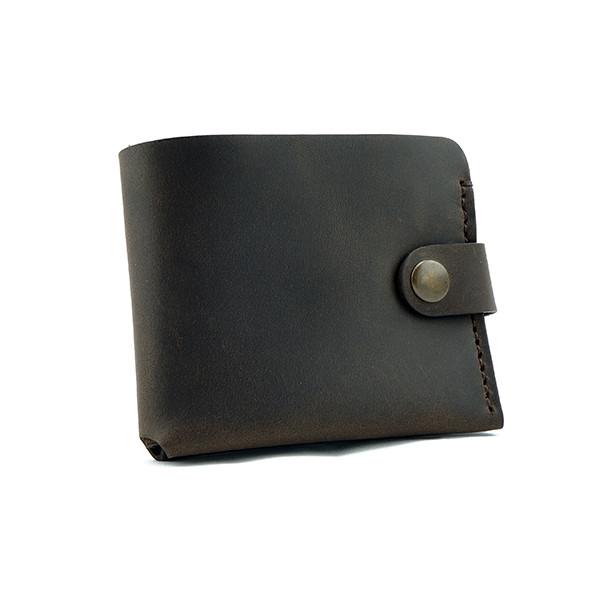 """Кожаное портмоне """"Ortis"""". Стильный мужской аксессуар ручной работы. Тёмно-коричневый цвет"""