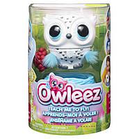 Интерактивная Игрушка Owleez летающая сова с огнями и звуками (белый)