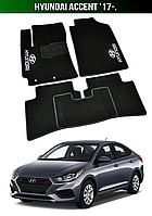 Коврики Hyundai Accent '17-. Текстильные автоковрики Хюндай Акцент Хендай, фото 1