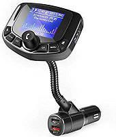 FM трансмиттер для авто, автомобильный плеер черный. Модулятор для Автомобиля