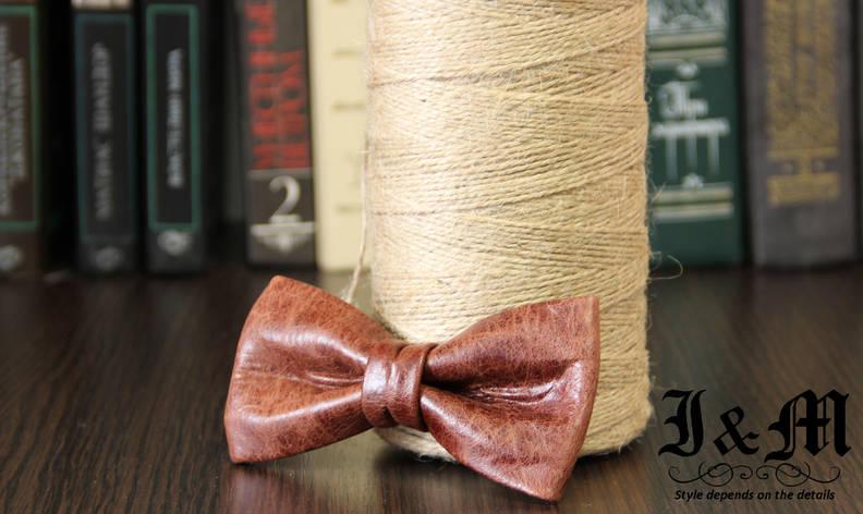 Кожаная галстук-бабочка I&M (010835), фото 2