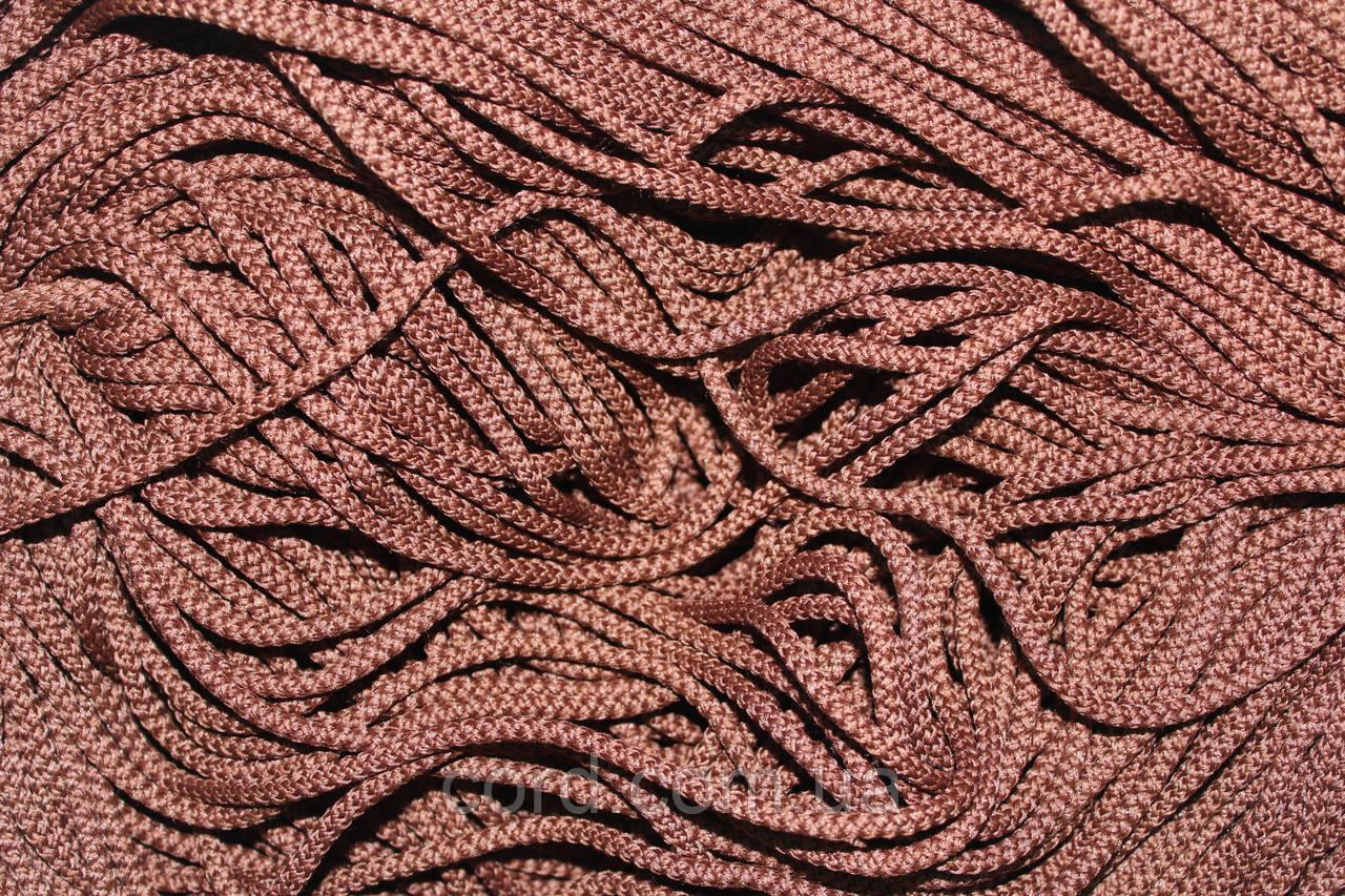 Шнур 4мм круглый 200м  коричневый
