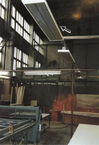 Инфракрасное отопление промышленных объектов