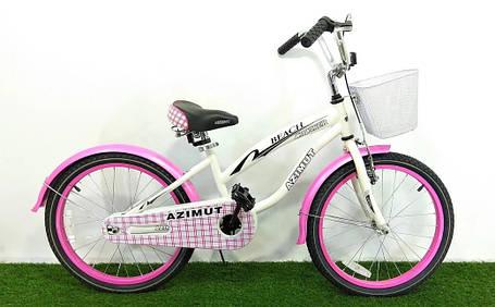 """Детский велосипед  """"Azimut Beach"""" 20"""" розовый, фото 2"""