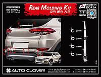 Хром накладки на задний дворник Hyundai Tucson 2015-  (Autoclover C287)