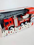 Спецтехніка Пожежна машина WY 351 B бризкає водою, фото 3