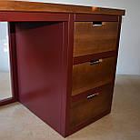 Стол офисный из массива дерева в стиле лофт, фото 6