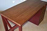 Стол офисный из массива дерева в стиле лофт, фото 7