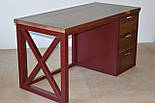 Стол офисный из массива дерева в стиле лофт, фото 9
