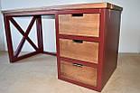 Стол офисный из массива дерева в стиле лофт, фото 10