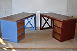 Стол офисный из массива дерева в стиле лофт, фото 2