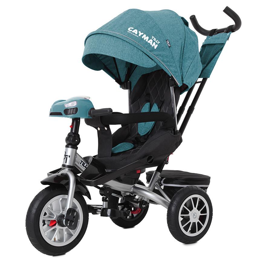 Велосипед трехколесный TILLY CAYMAN с пультом и усиленной рамой T-381/4 Бирюзовый лен /1/