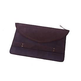 Чехол для MacBook из натуральной винтажной кожи Коричневый (039)