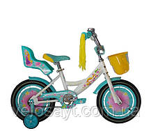 """Дитячий велосипед """"Girls"""" 16"""" рожевий, фото 2"""