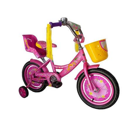 """Дитячий велосипед """"Girls"""" 18"""" рожевий, фото 2"""