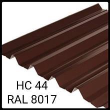 Профнастил НС-44  0,45 мм | Nippon | RAL 8017 |  коричневый глянец | Китай
