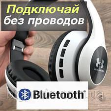 Качественные беспроводные Bluetooth наушники, Under Armour style,без проводов наушники, блютуз наушники UA-67, фото 3