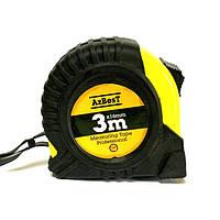 "Рулетка вимірювальна  ""Professional""  3м*16мм (ABS+TPR) AzBesT (12/240)"