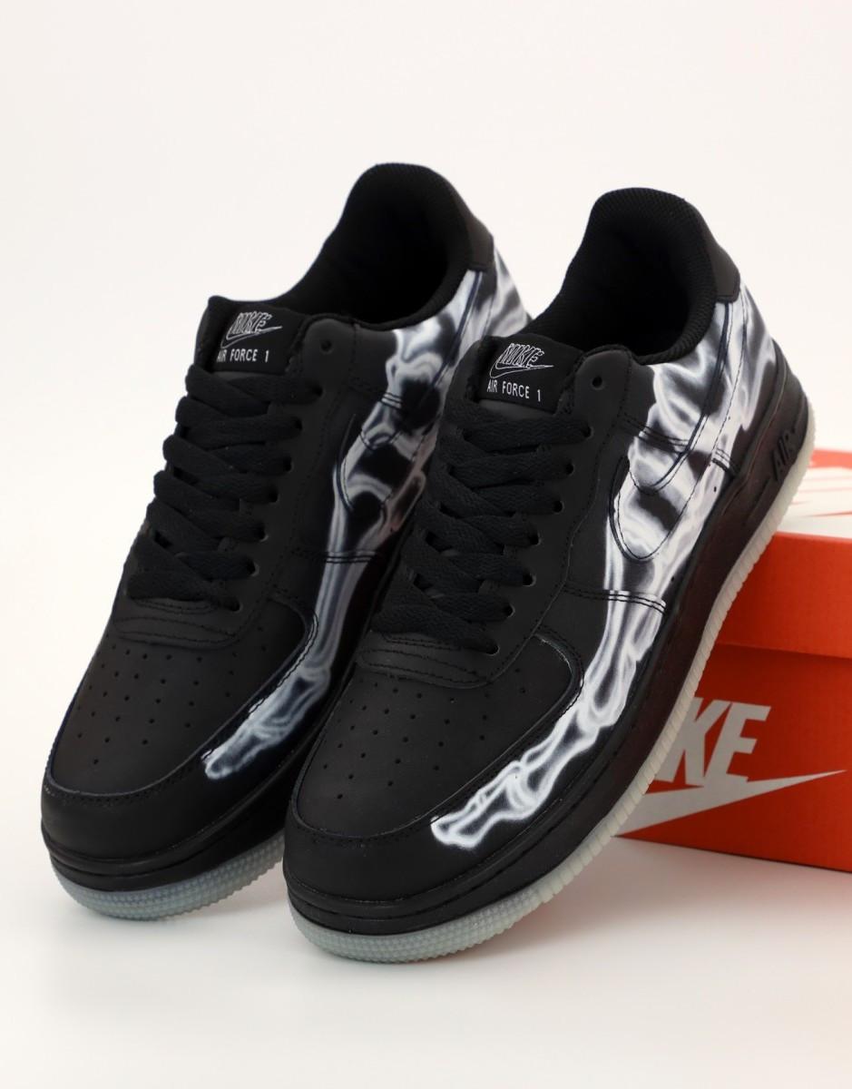 Мужские кроссовки Nike Air Force 1 low black (Найк Аир Форс черные)