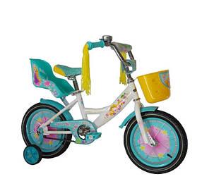 """Дитячий велосипед """"Girls"""" 18"""" бірюзовий"""