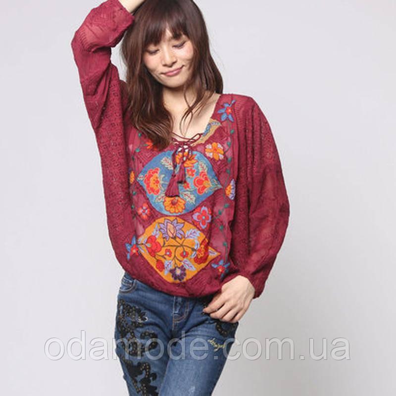 Блуза женская  летняя кружевная с принтомDesigual(Испания)