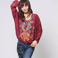 Блуза женская  летняя кружевная с принтомDesigual(Испания), фото 1