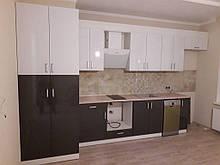 """Кухня з фасадами з пластику на основі МДФ """"Модерн"""""""