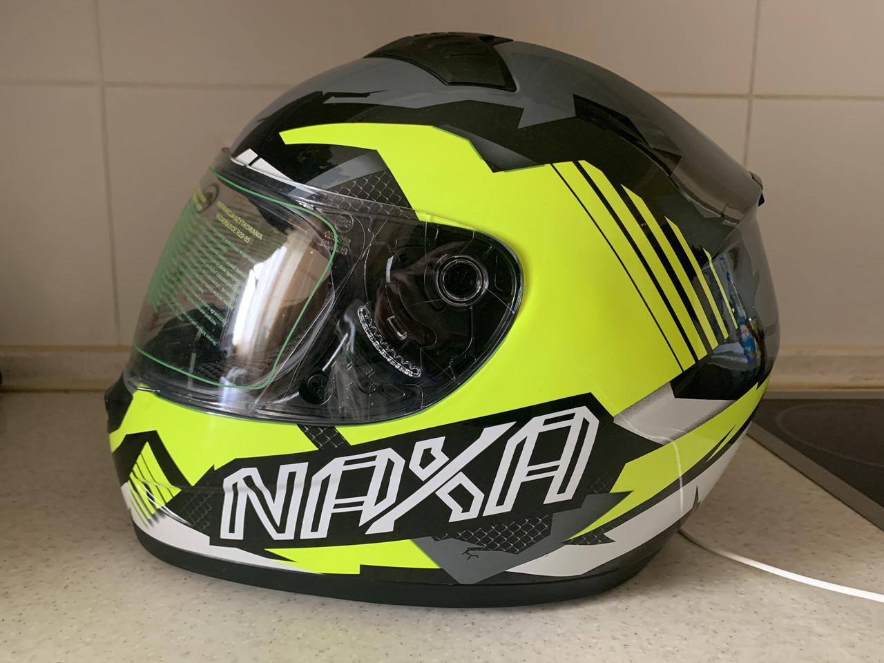 Мото шлем оригинал Европа закрытый Naxa (Польша) сертифицирован