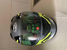 Мото шлем оригинал Европа закрытый Naxa (Польша) сертифицирован, фото 3