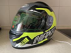Мото шлем оригинал Европа закрытый Naxa (Польша) сертифицирован, фото 2