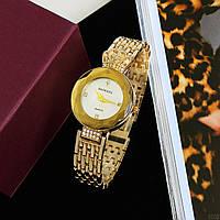 Часы женские нарядные наручные под золото Baosaili Gold-White