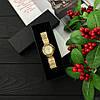 Часы женские нарядные наручные под золото Baosaili Gold-White - Фото