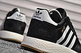 Стильні кросівки Adidas Iniki Black/white (Адідас Иники чорно-білі), фото 2