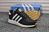Стильні кросівки Adidas Iniki Black/white (Адідас Иники чорно-білі), фото 5