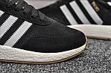 Стильні кросівки Adidas Iniki Black/white (Адідас Иники чорно-білі), фото 3