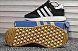 Стильні кросівки Adidas Iniki Black/white (Адідас Иники чорно-білі), фото 6
