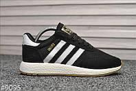 Стильные кроссовкиAdidas Iniki Black/white (Адидас Иники чорно-белые), фото 1