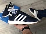 Стильні кросівки Adidas Iniki Black/white (Адідас Иники чорно-білі), фото 8