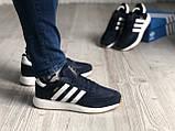 Стильні кросівки Adidas Iniki Black/white (Адідас Иники чорно-білі), фото 9