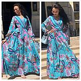 Гарне плаття подовжене з візерунком, дуже м'яке,шовкове плаття, фото 2