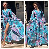 Гарне плаття подовжене з візерунком, дуже м'яке,шовкове плаття, фото 3