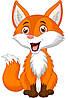 Радостная лисичка 40х30 см (в коробке), шт