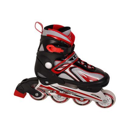 Ролики раздвижные, размер XL (41-44) роликиковые коньки красные, фото 2