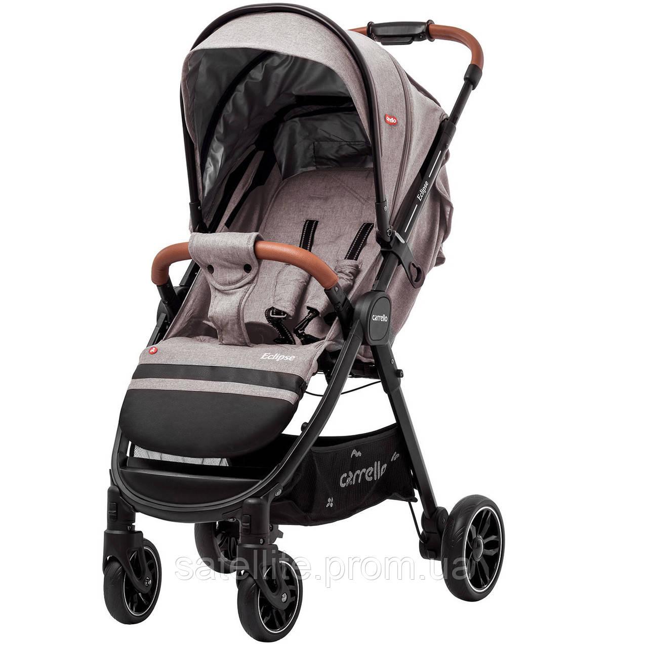 Детская прогулочная коляска CARRELLO Eclipse CRL-12001/1 Cotton Beige (льняная ткань) +Дождевик.