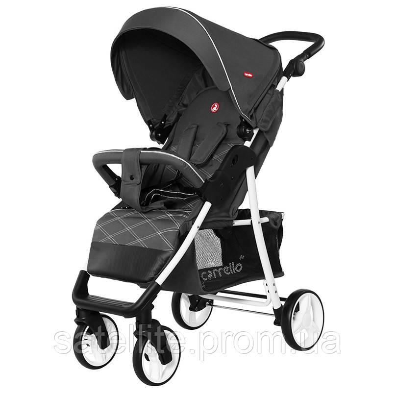 Детская прогулочная коляска CARRELLO Quattro CRL-8502/2 Metal Gray (льняная ткань) +Дождевик.