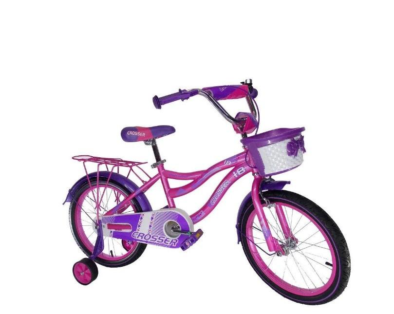 """Детский велосипед Crosser Kiddy 16"""" розовый"""
