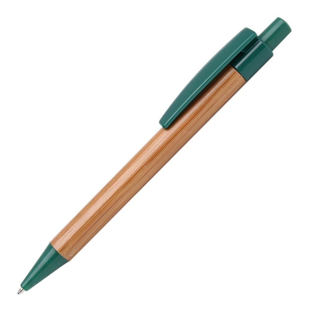 Экоручка бамбуковая, зеленые детали, от 100 шт