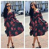 Красивое платье удлинонное с узором, очень мягкое,шелковое платье, фото 2