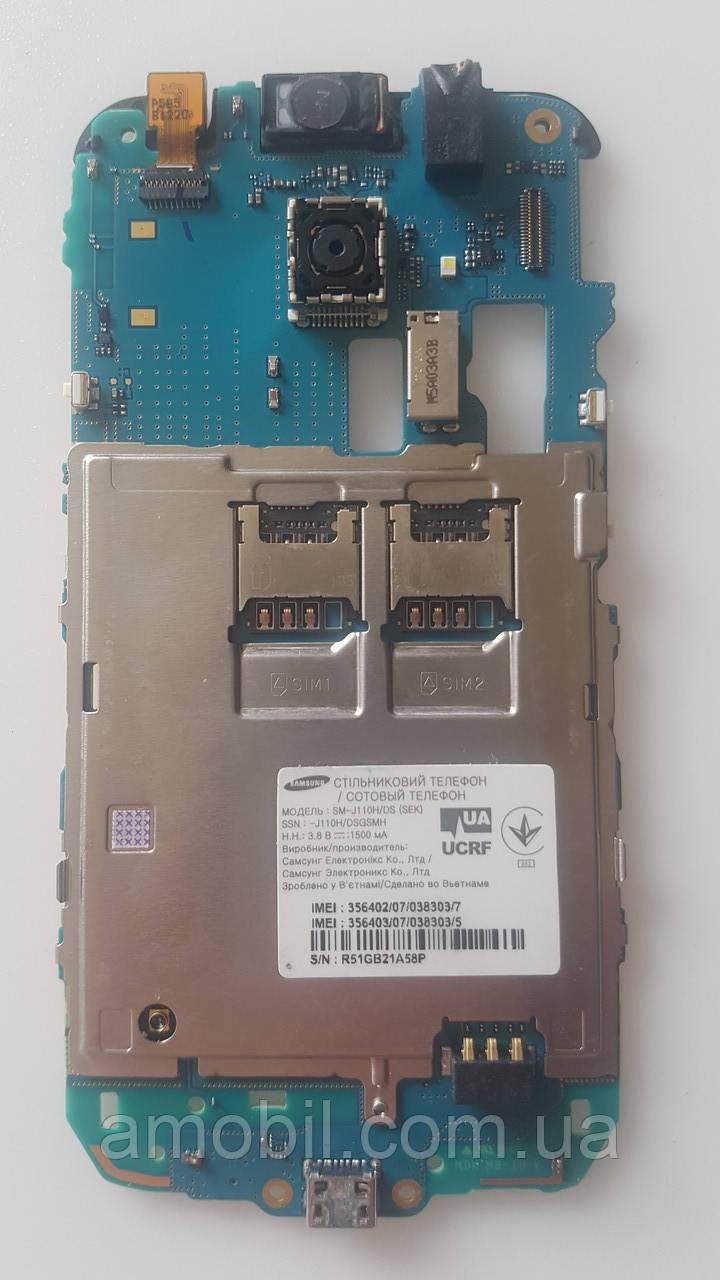 Материнская плата Samsung Galaxy J110H Duos J1  рабочая