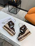 Босоножки Луи Витон кожаная реплика, фото 7